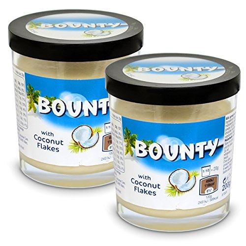 2x Bounty Milk Spread with Coconut Flakes Brotaufstrich 200g