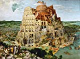 JH Lacrocon Pieter Bruegel el Viejo - Torre Babel Reproducción Cuadro sobre Lienzo Enrollado 120X80 cm - Pinturas Paisajes Impresións Decoración Muro