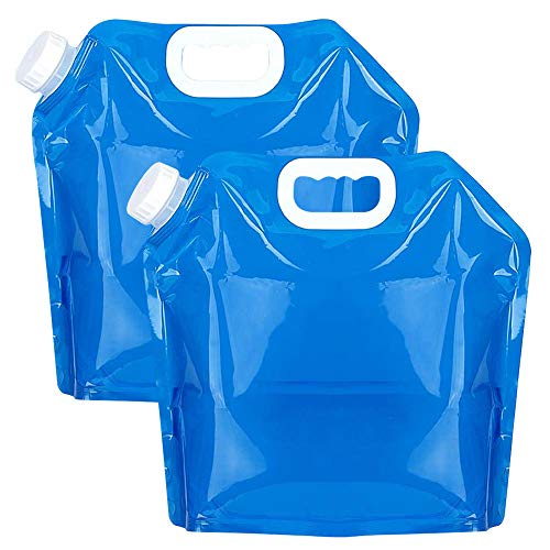 ウォーターバッグ 非常用給水バッグ 防災 非常用 折りたたみ 軽量 災害用 貯水 アウトドア用品 ウォータータンク 食品グレード 持ち運べる 旅行 登山 避難 スポーツアウトドア用品 大容量 2セット 5L/10L/5L+10L (ブルー, 5L+10L)