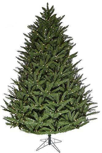 Fraser Hill Farm 9.0-Foot Pre-lit Centerville Pine Green Traditional Christmas Tree, Warm White LED Lights, FFCV090-5GR