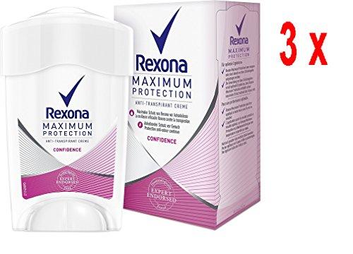 3 x Rexona Deo Cremestick Women Maximum Protection Anti-Transpirant - Confidence - 45 ml