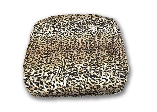 BIANCHERIAWEB Copridivano Angolare Universale Arricciato Leopardato Angolare Leopardato