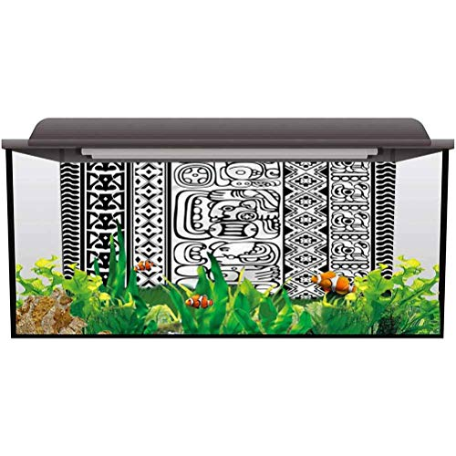 ScottDecor Fish Tank Decorative Pictures Tribal,Aztec Mayan Folk Abstract Sea World Colorful L48 X H24 Inch