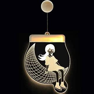 URMAGIC 3D Night Light Lamp for Kids,Household Bar Tea Shop Decoration LED Room Decor as A Romantic Gift Love