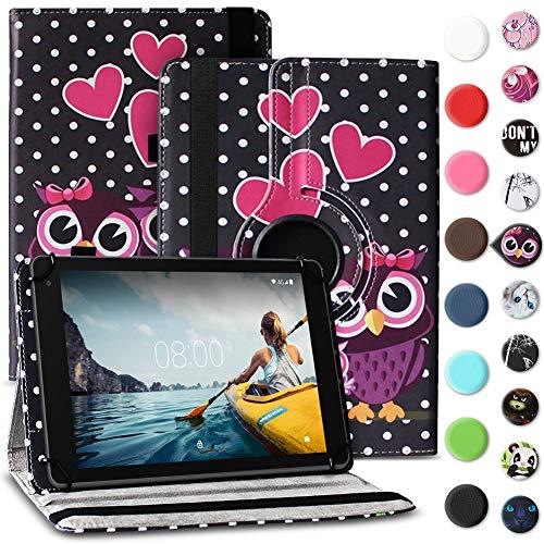 Tablet Hülle kompatibel für Medion Lifetab E6912 Tasche Schutzhülle Hülle Cover aus Kunstleder Standfunktion 360° Drehbar, Farben:Motiv 5