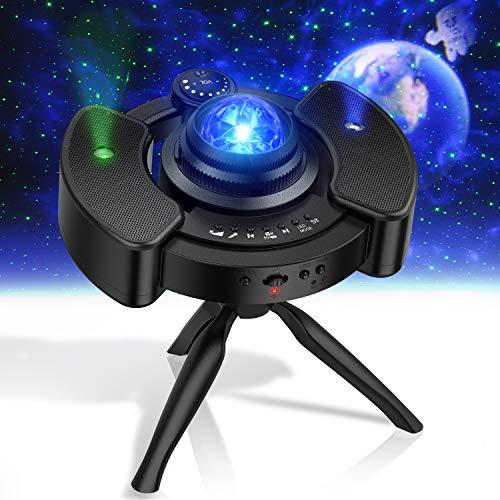 KPCB Sternenhimmel Projektor Lampe ohne Rauschen 2021 Neueste, 22 Projektionsmodi Sternenhimmel, Bluetooth-Modus, für Raumdekoration, Heimkino-Beleuchtung oder Schlafzimmer-Nachtlicht