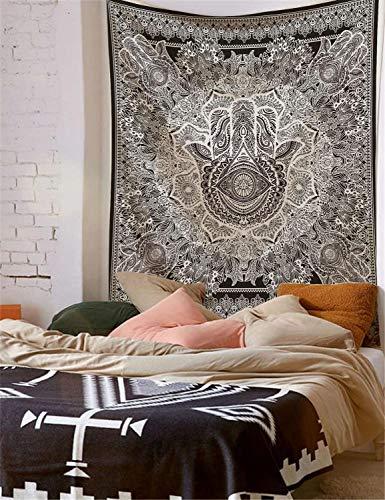 WERT Mandala patrón Indio Tapiz Colgante de Pared decoración Elefante Toalla de Playa Bohemia Manta Fina Estera de Yoga A20 150x130cm