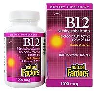 Natural Factors B12 Methylcobalamin 1 000 mcg 180 Chewable Tablets