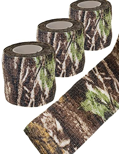 Outdoor Saxx® - Camouflage Tarn-Tape Real-Tree, Real Forest, Gewebe-Band, Tarnung wasserfest...