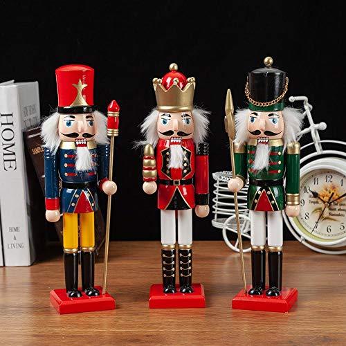 Fancylande notenkraker in Engelse stijl, van hout, 3 stijlen met koningen/soldata/ritual, perfect voor Kerstmis, markeerbaar professioneel