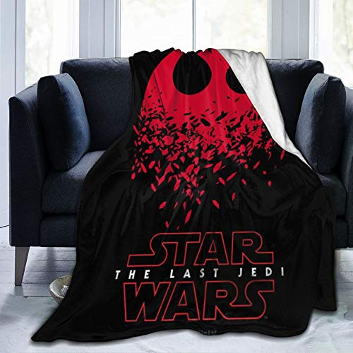 Manta de franela con estampado digital de Star Wars Jedi, ultrasuave, de microforro polar, suave y cálida, ideal como regalo de Navidad, cumpleaños de 50 x 60 pulgadas