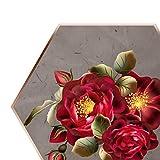 DIY bordado flor trabajo hecho a mano costura para principiantes Kit de punto de cruz cinta pintura bordado aro decoración del hogar, F, Estados Unidos