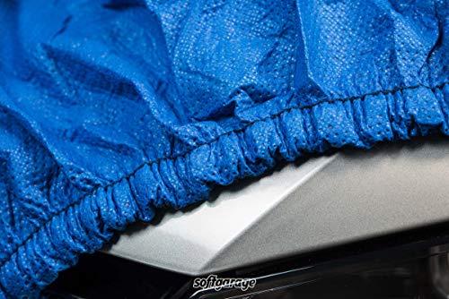 SOFTGARAGE 3-lagig blau Indoor Outdoor atmungsaktiv wasserabweisend Car Cover Vollgarage Ganzgarage Autoplane Autoabdeckung 101030-0710336