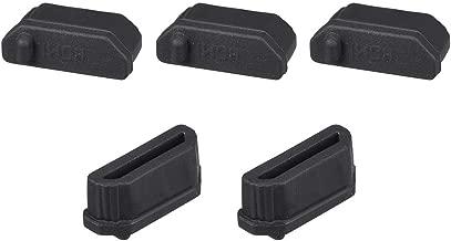 uxcell Silicone TV HDMI Male Port Anti-Dust Stopper Cap Cover Black 5pcs