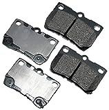 Akebono ACT1113 Proact Ultra Premium Ceramic Disc Brake Pad kit