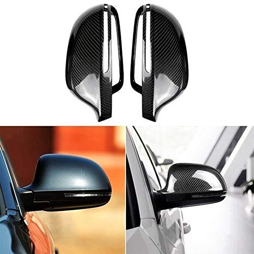 SHENGGLL. In Fibra di Carbonio Laterale retrovisore Copertura for Audi A3 Q3 RS3 A4L A5 A6L A8L RS6 S8 (Color : Black)
