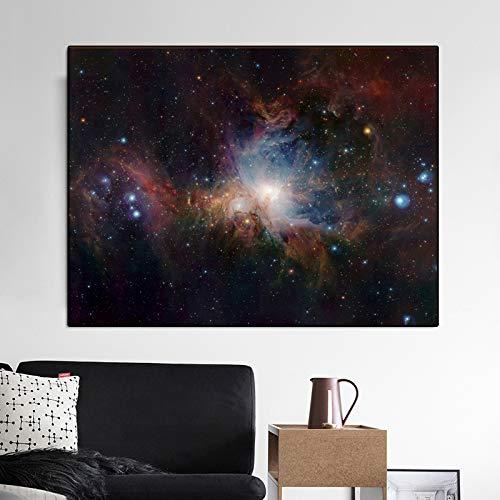 Nebula Space Art Orion Art Leinwand Wandbild Wohnzimmer Landschaft Poster und Druckgrafik Cuadros Home Decoration 30x45CM (kein Rahmen)
