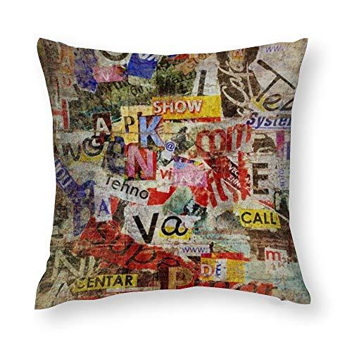 YY-one Fundas de almohada decorativas con textura grunge y fondo decorativo para sofá, sofá, silla, cuadrado, 50,8 x 50,8 cm