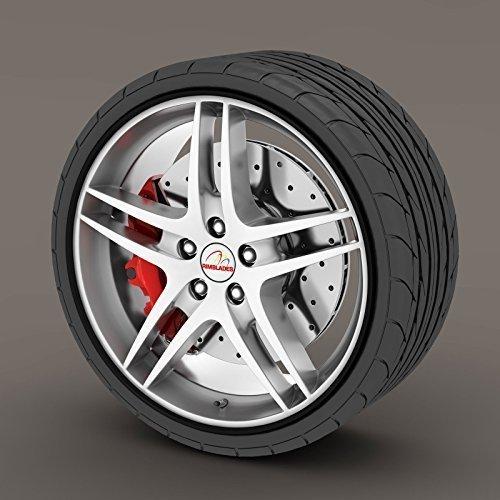 Rimblades Alloy Wheel Edge Ring Rim Protectors Tyres Tire Guard Rubber Moulding (Black Rimblades)