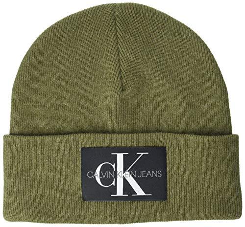 Calvin Klein Herren Beanie Hut, Olive Night, Einheitsgröße