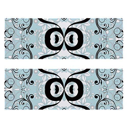 2 paquetes de toallas de yoga para gimnasio, camping, playa y viajes, toalla de banco deportiva con patrón floral azul para cuello, secado rápido