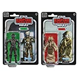 Star Wars 40ème anniversaire – Pack de 2 figurines 4-LOM et Zuckuss 15 cm - Edition Collector Black Series - Exclusivité Amazon