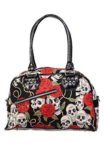 Prohibido bolso de las rosas del cráneo - Black / One Size