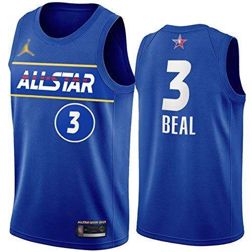 WAIY Bradley Beal # 3 Washington Wizards 2021 New All-Star Basketball Jersey, Men's Basketball Fan Jersey Profession Profession Product PRODUCTOR STRETE PROTENIDO LIMPIEZ Blue-XL