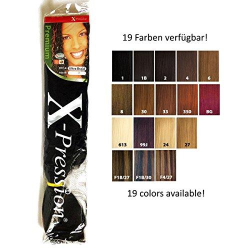 "X-pression Ultra Trenza Pelo sintético 82"" (Aprox. 210cm) en 6 diferentes colores - 27 (oscuro Rubia De Oro)"