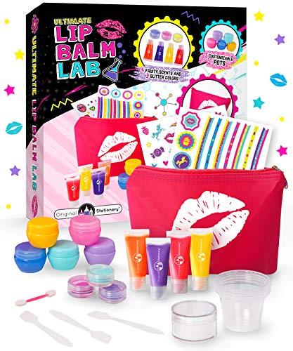 Original Stationery Geschenke für Mädchen - Lippenbalsam Selber Machen, 22 Teile - Kinderschmink...