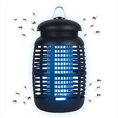 Jior Zanzariera elettrica 15 W 80 ㎡ lampada UV luce antizanzare efficace riduzione delle zanzare, insetti volanti, impermeabile, luce antizanzare per interni ed esterni, casa