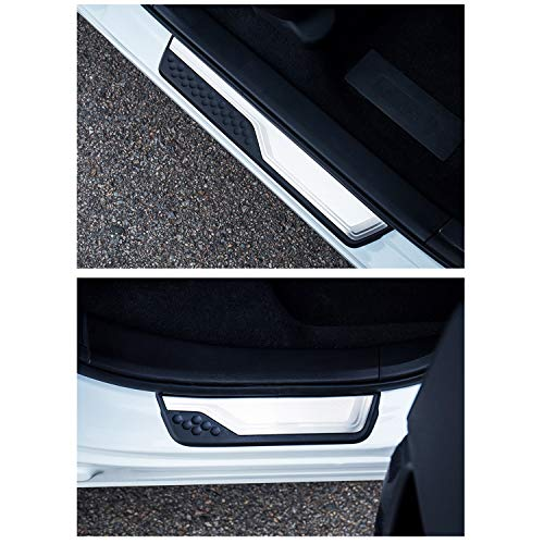 CRV Accessories 2017-2020 2021 CRV Door Sill Guard Scuff Plate,CRV Car Door Entry Guards Cover Protector Threshold Prevent the Threshold from Scratching