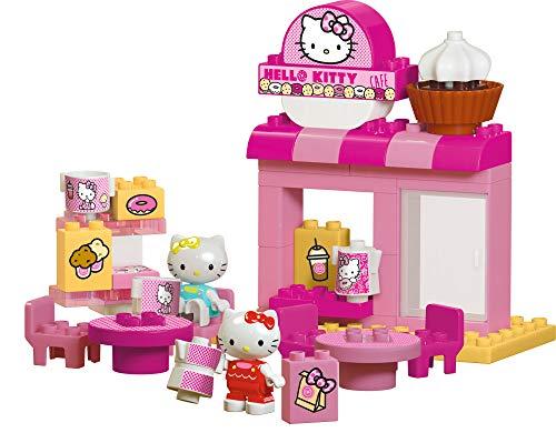 BIG-Bloxx Hello Kitty Cafe - Bausteinset mit 45 Teilen inkl. 2 Hello Kitty Spielfigur, verbaubar mit bekannten Spielsteinen für Kinder ab 1,5 Jahren