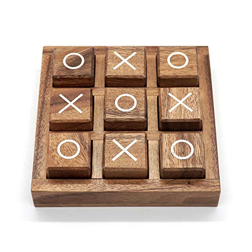 Tic Tac Toe Game for Kids and Family Board Games 3D Travel of Living Room Decor and Coffee Top Table...