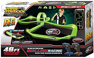 Max Traxxx R/C Award Winning Tracer Racers High Speed Remote Control Infinity Loop Track Set by Max Traxxx