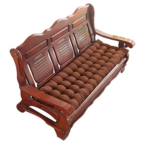 Cojín para silla de balcón Cojín para sofá de dos plazas para interior / exterior, cojín para banco de patio Cojín para sillas mecedoras suaves Cojín para tumbona Cojín para asiento reclinable Espesa