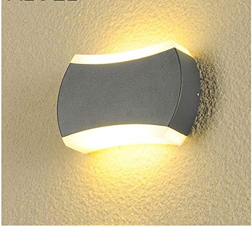 Buitenverlichting, padverlichting, buitenwandlampen, schijnwerper, LED, 8 W naar boven en onder verlichte wand – licht buiten, waterdicht huis, slaapkamer, Villa koffie, achtergrond muur hotel -