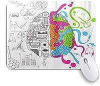 EILANNAマウスパッド ブルーバイパーの分析的で創造的な脳 ゲーミング オフィス最適 高級感 おしゃれ 防水 耐久性が良い 滑り止めゴム底 ゲーミングなど適用 用ノートブックコンピュータマウスマット