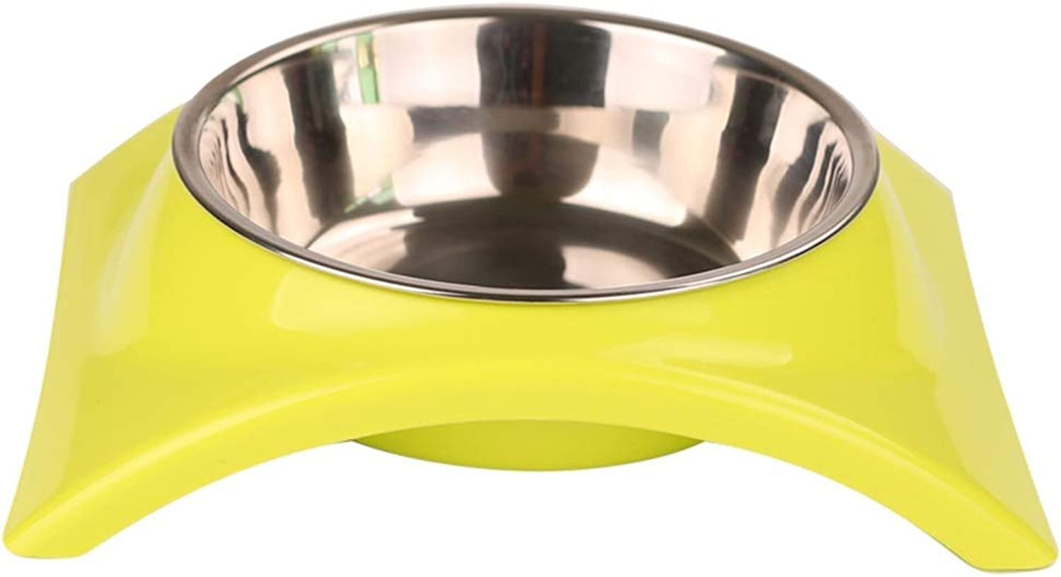 WSJTT Round Pet Dog Cat Plastic Bowl Durable Food Drink Feeder Bowl Candy colors Feeding Dish Bowl,Stainless Steel Pets Dog Bowl Travel Food Bowls for Cats Dogs Outdoor Drinking Water Pet Dog Dish Fee