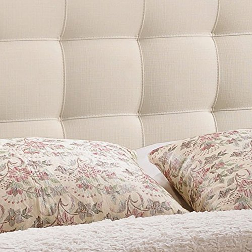 Modway Lily Tufted Linen Fabric Upholstered Full Headboard in Ivory