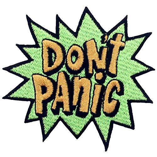 Parche termoadhesivo para la ropa, diseño de Que no cunda el pánico