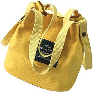 Wultia - Girls Shoulder Bag Trend Versatile Ladies Messenger Bag Canvas Crossbody Bags for Women Bolsa Feminina Dropshipping #T09 Yellow