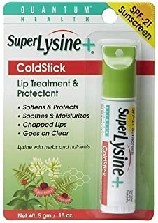 Super Lysine Plus+ ColdStick, SPF 21, Regular 0.18 oz (Pack of 3) by Quantum Research
