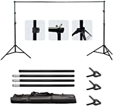 Background Stand Set Ryqtop 6.5x9.8ft Adjustable Backdrop Support System Kit for Photography with Carrying Bag