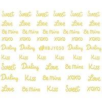 ネイルシール アルファベット 文字 ブラック/ホワイト/ゴールド/シルバー 選べる80種 (ゴールドGP, 16)