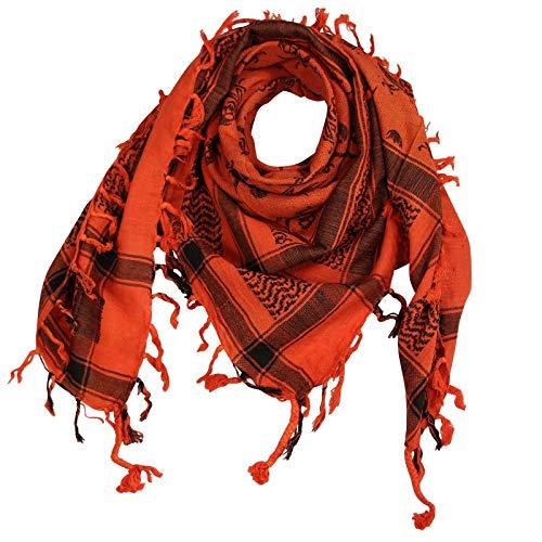 Superfreak Palituch - Totenköpfe mit Säbel orange - schwarz - 100x100 cm - Pali Palästinenser Arafat Tuch - 100{385b527c3488861a12fbadf759d2c8669f069ba5e964b7756c66d06fdb89b49e} Baumwolle