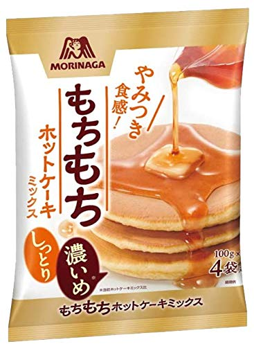 森永製菓 もちもちホットケーキミックス (100g 4袋入り)