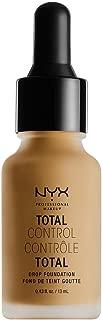 NYX PROFESSIONAL MAKEUP Total Control Drop Foundation, Caramel, 0.43 Fl Oz