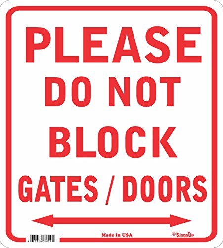Don't Block Gate Sign