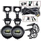 Luces auxiliares for la Motocicleta B-M-W Lámparas antiniebla de conducción de 40W 6000K for B-M-W R1200GS F800GS F700GS F650 K1600 (Color : 1 Set with Relay)